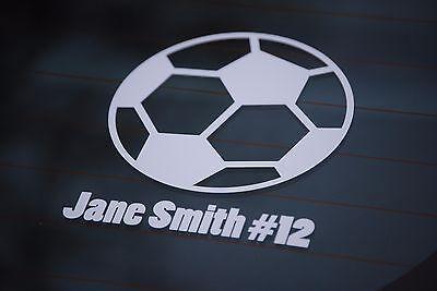 Sports Decal Stickers (Football, Baseball, Soccer, Basketball) + Name!