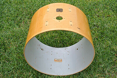WOW! 1980 GRETSCH 14X22 NATURAL LACQUER 4247W BASS DRUM SHELL for YOUR SET! #Z1 ()