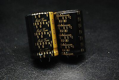 Nichicon 50v 10000uf Kg Type-i Gold Audio Hi-fi Snap-in Capacitor A438