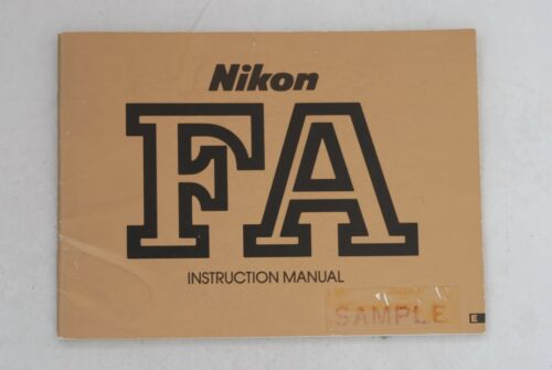 Original Nikon FA Instruction Book Manual