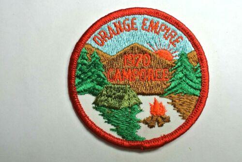 1970 Orange Empire Council Camporee Pocket Patch Boy Scout BSA California - MINT