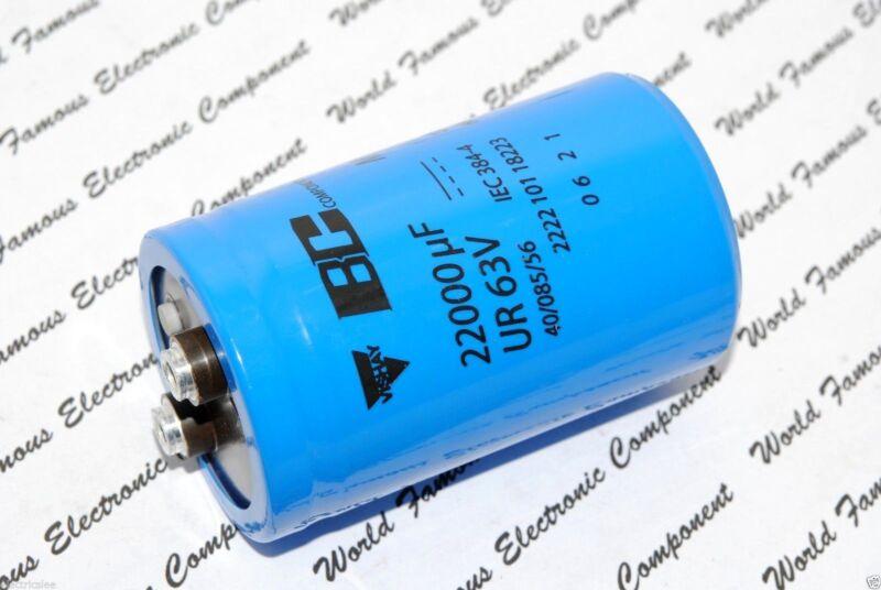1pcs-Vishay BCcomponents 101 22000uF 63V  Screw Terminal Capacitor-222210118223
