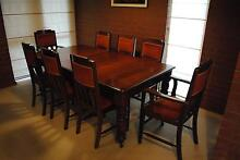 French Polished Dining Table with six chairs and two carvers Teringie Adelaide Hills Preview