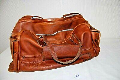 E1 Ancien sac - sacoche en cuir - golfeur - France - Impression