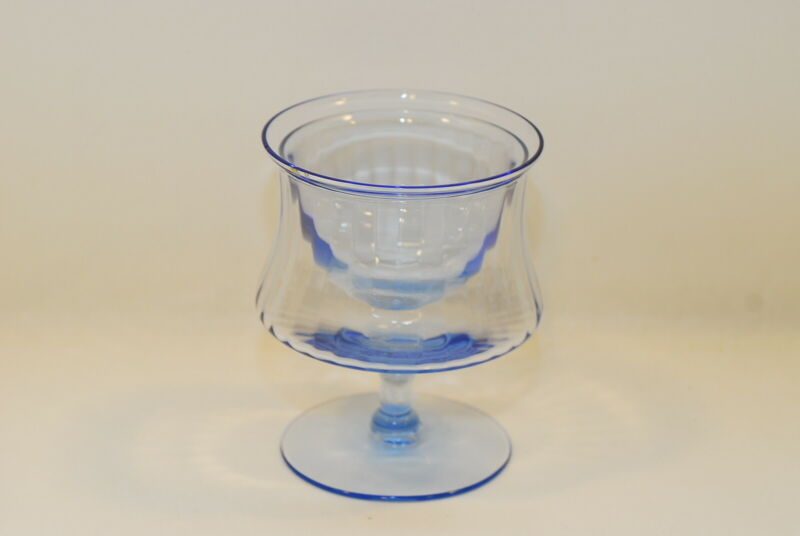 2 Cambridge Decagon Light Blue Seafood Cocktail & Liner 4.75 Inch
