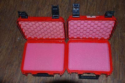 2 Lot SKB iSeries Waterproof Storage Hard Cases Case Gun Camera Canoe Boating