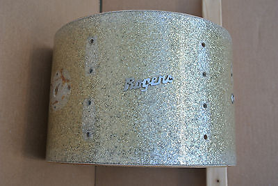 """Rogers 12"""" HOLIDAY RACK TOM SHELL in SILVER SPARKLE for YOUR DRUM SET! #V790"""