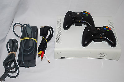 Xbox 360 ARCADE Console, 2 Controllers, 256MB Bundle Lot, used for sale  Shipping to Canada