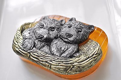 DOG PUPPIES SOAP SILICONE MOLD SOAP BAR GUEST MOULD