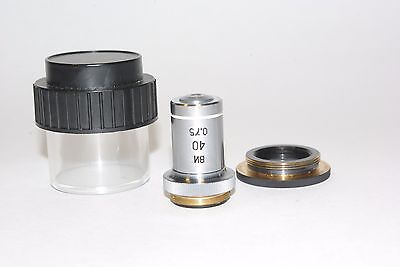 Lomo Wi 40x075 Lum. Microscope Achromat Objectivewater Imm160mm Tuberms