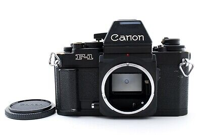[Exc] Canon New F-1 F1 AE Finder Black SLR Film Camera Body From JAPAN 607595