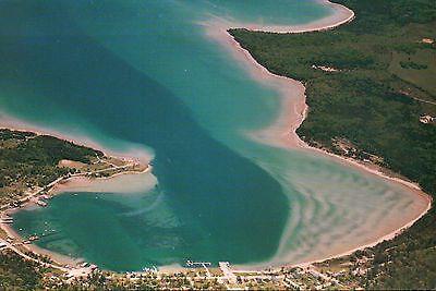 Paradise Bay Michigan, St. James MI Harbor on Beaver Island, Lake --- Postcard