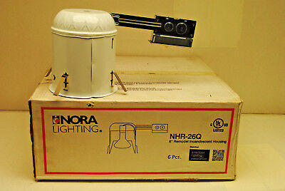 Case Of 6 Nora Lighting Nhr-26q 6 Remodel Housing Recessed Can Light Non-ic