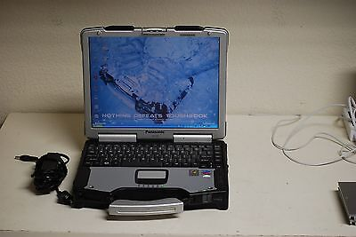 Panasonic Toughbook Rugged Touch Screen 1.6ghz Backlit Key Windows 7 Pro DVD MK4