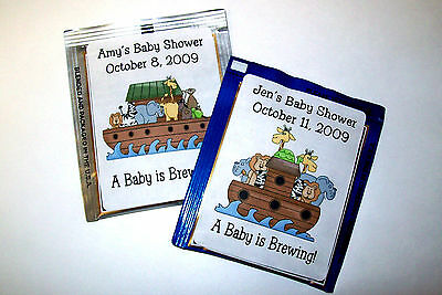 Noahs Ark Baby Shower Tea - 30 NOAH'S ARK BABY SHOWER FAVORS TEA BAG LABELS
