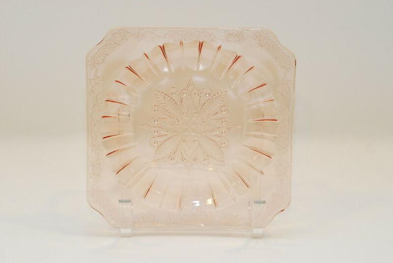 Jeannette Adam Pink 7.75 Inch Salad Plate Plates