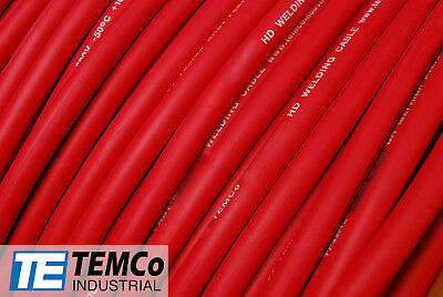 Welding Cable 2 Awg Red 100 Ft Battery Leads Usa New Gauge Copper