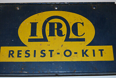 Resist-o-kit In Tin Container - Lot Of Vintage Carbon Composition Resistors