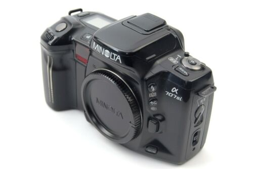 MINOLTA α707si Film Camera Body only BLACK Free Shipping from Japan