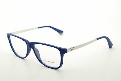 New Authentic Emporio Armani EA 3025 5194 Blue/Silver 54mm Eyeglasses Frames RX