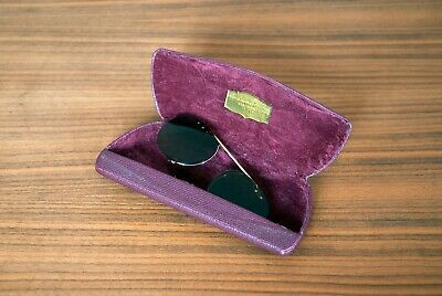 OLIVER PEOPLES RILEY CLIP ON SUNGLASSES GLASSES POLARIZED GOLD/BROWN RARE!