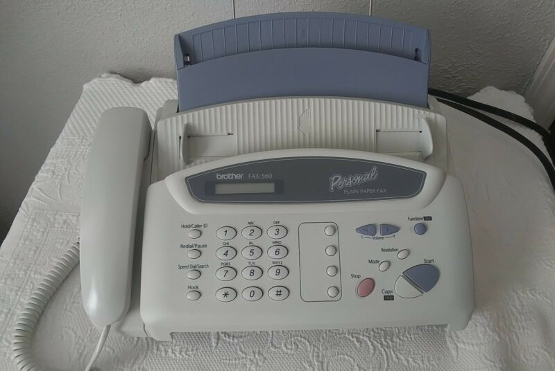 Brother 560 Personal Fax Plain Paper Copy Machine Phone Message Center