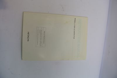 Hitachi L-7400 Uv Detector Instruction Manual