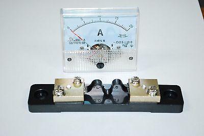 1dc 20a Analog Panel Amp Current Meter Current Shunt 85c1 Ammeter Gauge A435
