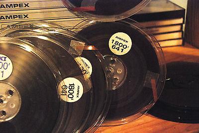 """The Reel-To-Reel Store: 10 Reels Ampex 641 blank recording tape: 7"""" reels"""