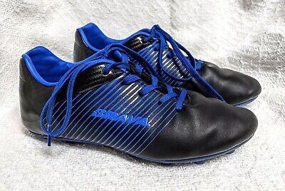 BRAVA Soccer Cleats Boys Size 4D Black Blue Shoes EUC!