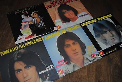 "LOT 5 X SINGLE 7"" VINYL *ALAIN CHAMFORT* DISQUES 45 TOURS"