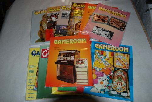 12 GAMEROOM MAGAZINES FROM 1990, 1992, 1993, 1994, 1997, 2007, 2008 and 2009