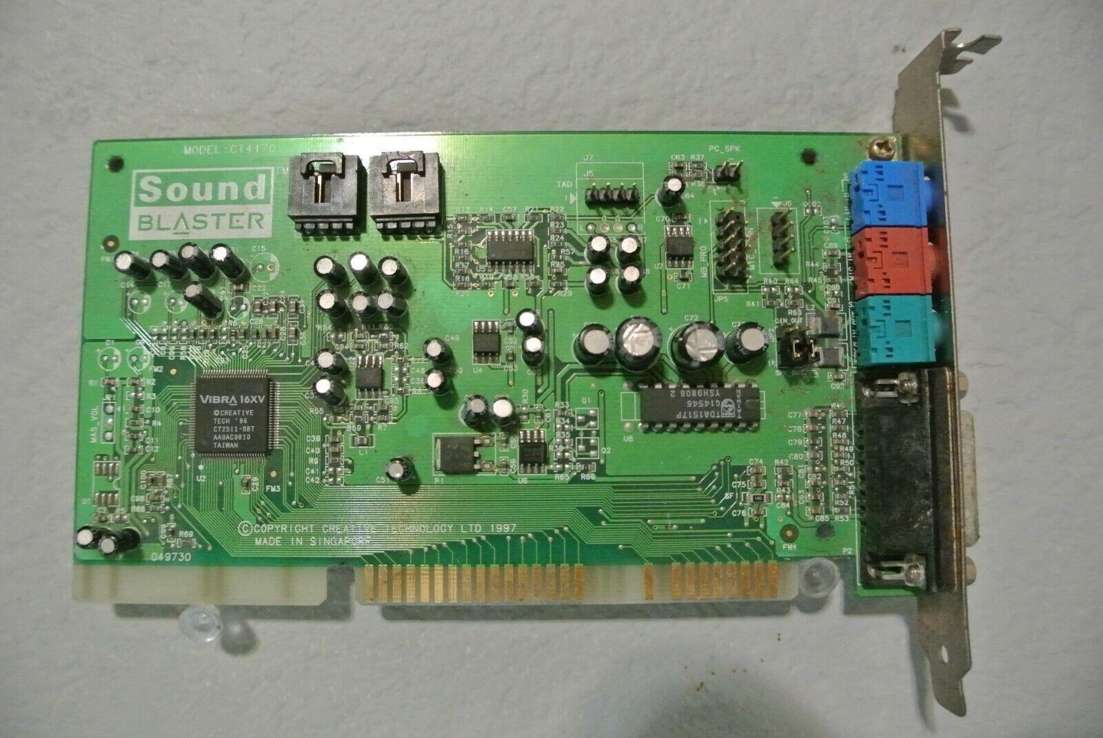  Creative Sound Blaster 16 VIBRA 16XV CT4170 4170 …