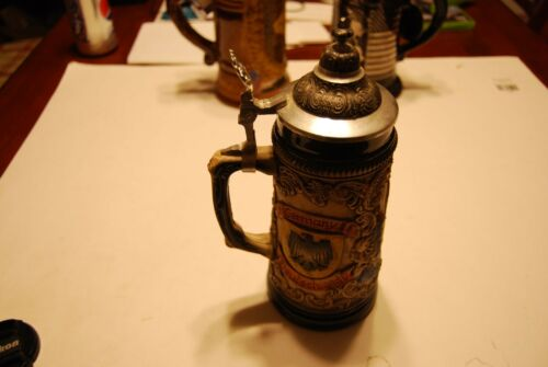 Rothenburg Germany Deutschland Handarbeit .SL Beer Stein w/ Lid