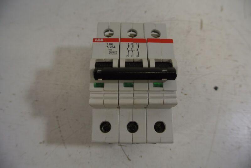 ABB 3 Pole 25 Amp 400 Volt Circuit Breaker Cat: S233-K25A