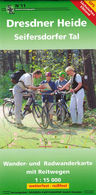 Wanderkarte & Radwanderkarte Dresdner Heide -Seifersdorfer Tal - GPS - (05/2015)