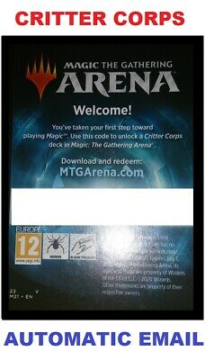 MAGIC MTG ARENA CODE CARD CRITTER CORPS DECK - WELCOME BOOSTER (ARENA DECK)