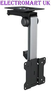 LCD TV TELEVISION CEILING OR UNDER CABINET FLIP DOWN BRACKET BLACK 13