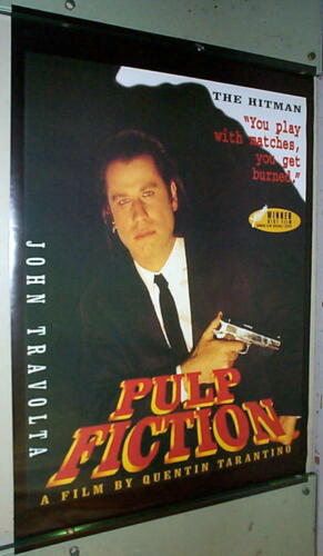 PULP FICTION Movie John Travolta Vintage  Poster LAST ONE