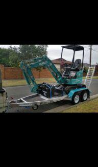 Kobelco 1.7T Mini Excavator for Dry Hire