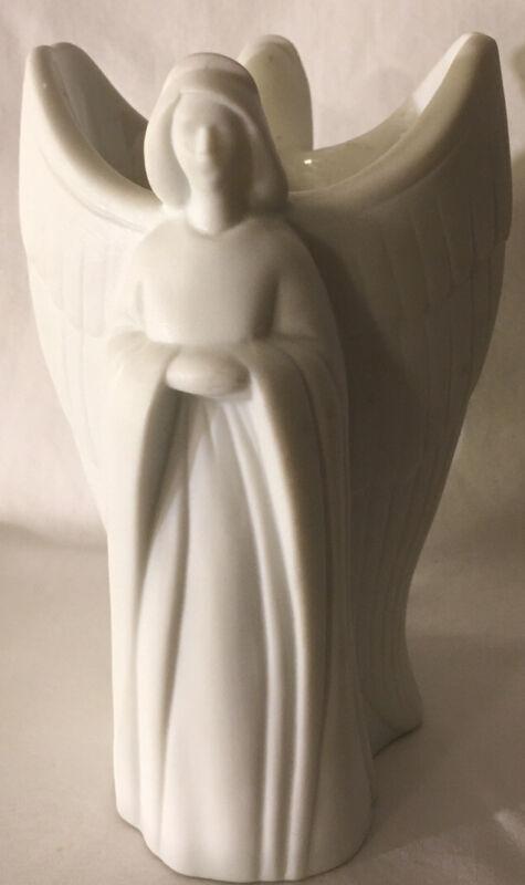 Vintage Avon porcelain Two angel Vase Votive candleholder