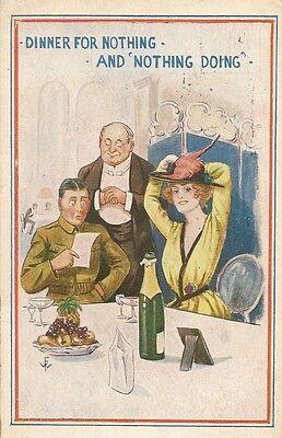 WW1 WWI  Artist Drawn FW Dinner Soldier PC