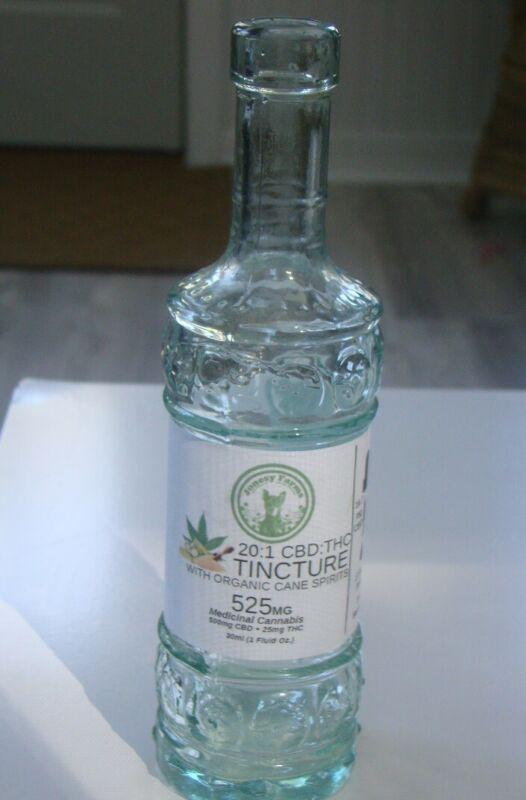 Vintage Medicinal Cannabis 20:1 Tincture -w/Organic Cane Spirits Repro Bottle