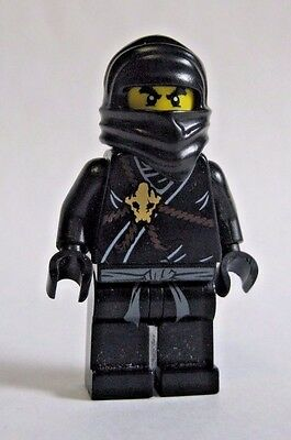 Lego COLE Ninjago Black Ninja Minifigure 2112 2263 2516 (Ninjago Black)