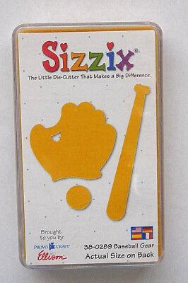 Sizzix Originals BASEBALL GEAR 38-0289 Sports Accessories 1 medium / yellow Die