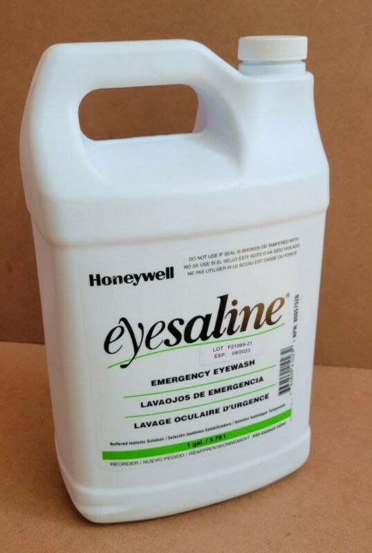 HONEYWELL 32-000502-0000 Eye Wash Saline Solution,1 Gal. EXP 09/2023
