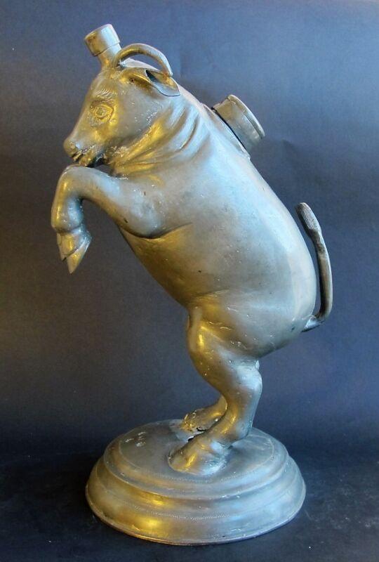 Rarest 17th C. GERMAN Pewter Pitcher for Butchers Guild  c. 1650   antique vase