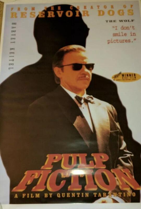 Pulp Fiction poster The Wolf Original UK MINT 24x36 Quintin Tarantino RareSealed