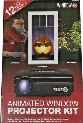 Window FX Animated Window Projector Kit Christmas/Halloween 12 Seasonal Displays