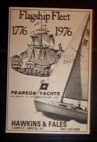 1976 Pearson Yachts Advertisement Hawkins & Fales Bristol, Rhode Island